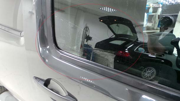 Contaminated window tinting